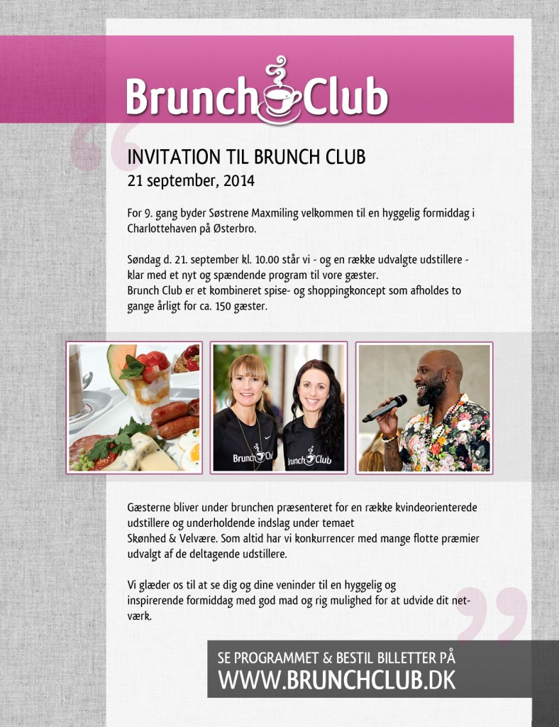 Invation tl Brunch Club 21 sep.
